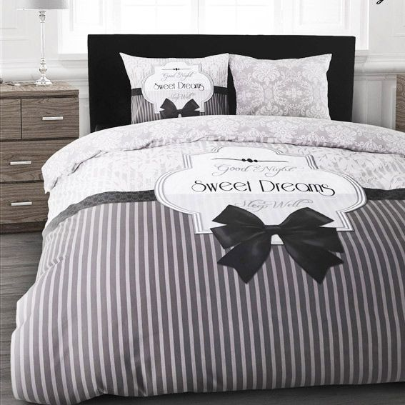 housse de couette et deux taies 240 cm sweet dreams gris housse de couette eminza. Black Bedroom Furniture Sets. Home Design Ideas