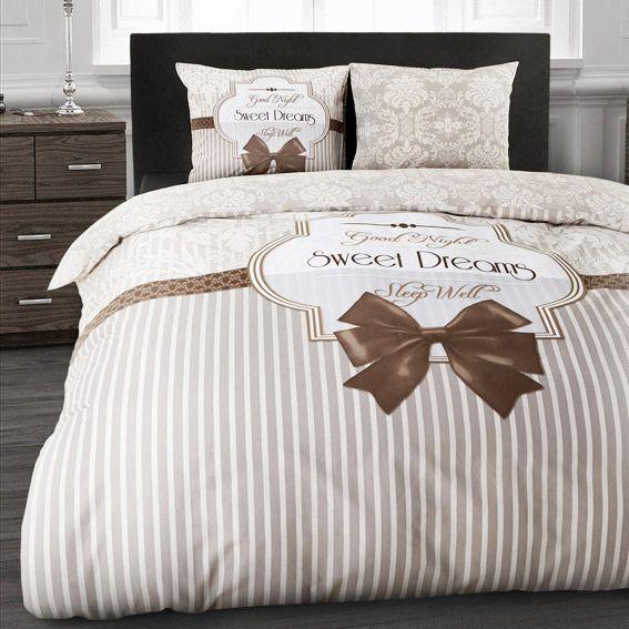 housse de couette et une taie 140 cm sweet dreams taupe. Black Bedroom Furniture Sets. Home Design Ideas