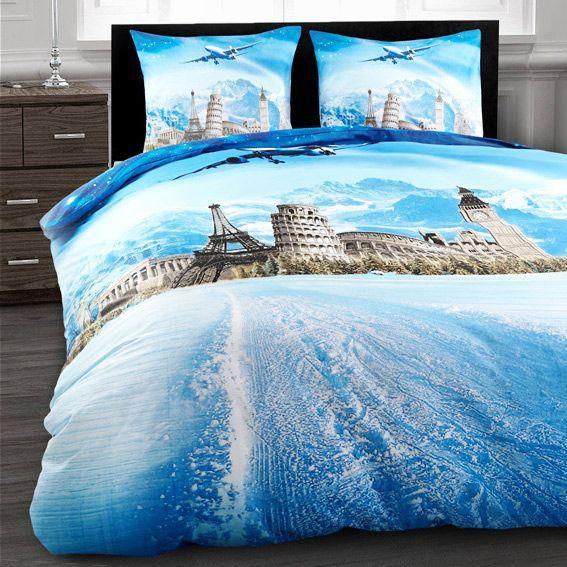 housse de couette et deux taies 240 cm sept merveilles du monde housse de couette eminza. Black Bedroom Furniture Sets. Home Design Ideas