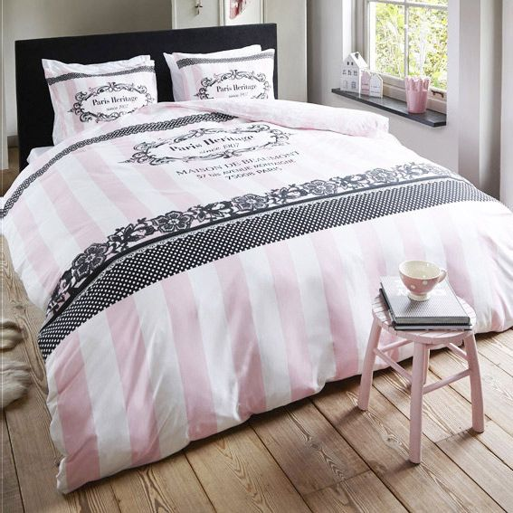attractive housse de couette rose pale 12 housse de. Black Bedroom Furniture Sets. Home Design Ideas