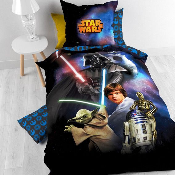 housse de couette et une taie 140 cm star wars housse. Black Bedroom Furniture Sets. Home Design Ideas