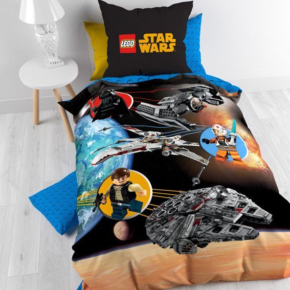 housse de couette et une taie 140 cm lego star wars. Black Bedroom Furniture Sets. Home Design Ideas