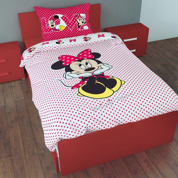 housse de couette et une taie 140 cm minnie sweet pink. Black Bedroom Furniture Sets. Home Design Ideas