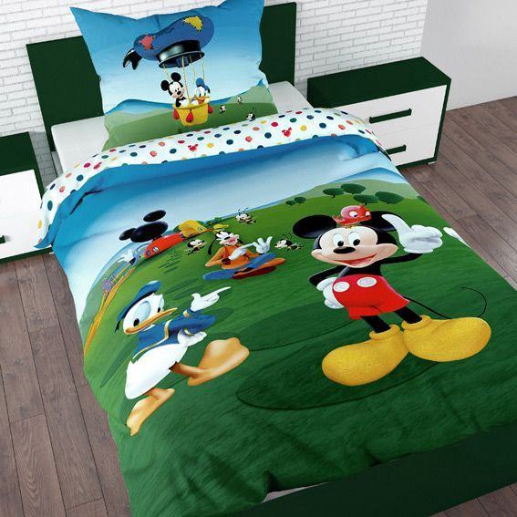 housse de couette et une taie 140 cm mickey balloon housse de couette eminza. Black Bedroom Furniture Sets. Home Design Ideas