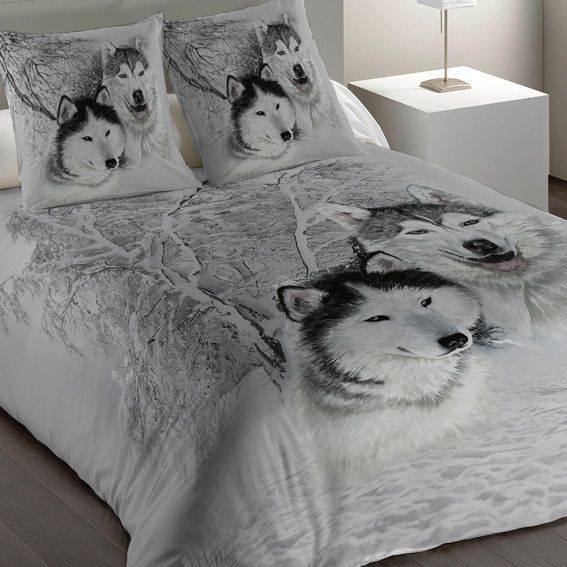 housse de couette et une taie 140 cm husky housse de couette eminza. Black Bedroom Furniture Sets. Home Design Ideas