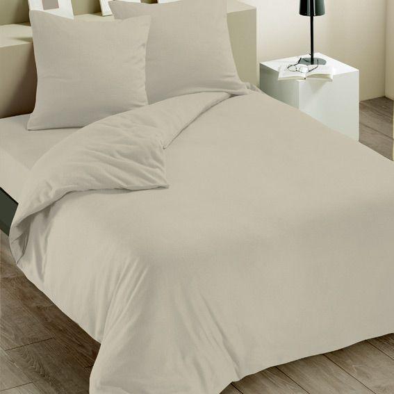 housse de couette et deux taies 240 cm polaire taupe. Black Bedroom Furniture Sets. Home Design Ideas