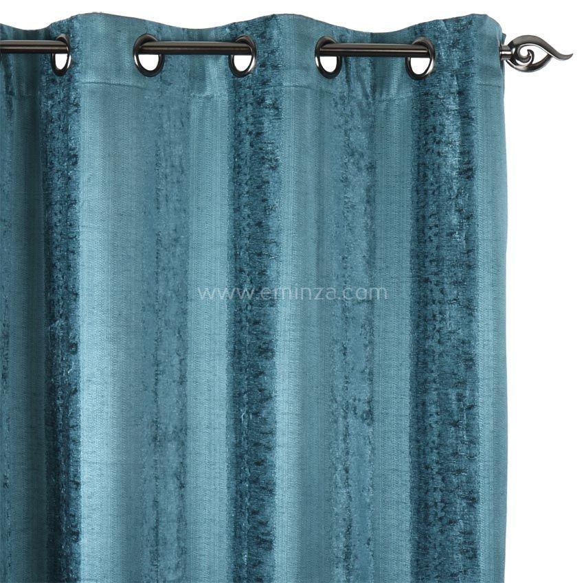 rideau turquoise stunning rideau bleu vert entre le turquoise et le ptrole dans un appartement. Black Bedroom Furniture Sets. Home Design Ideas