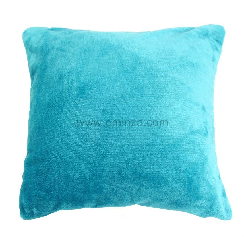 housse de coussin 60 cm doudou turquoise coussin et housse de coussin eminza. Black Bedroom Furniture Sets. Home Design Ideas