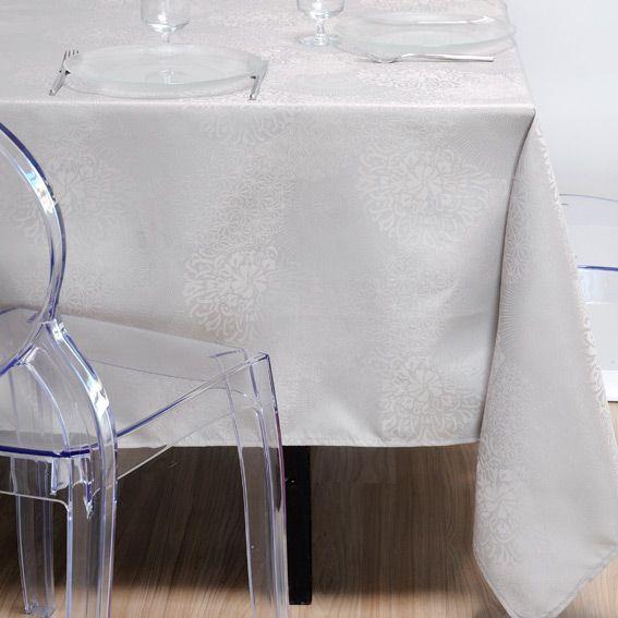 nappe ronde d180 cm totema gris linge de table eminza. Black Bedroom Furniture Sets. Home Design Ideas