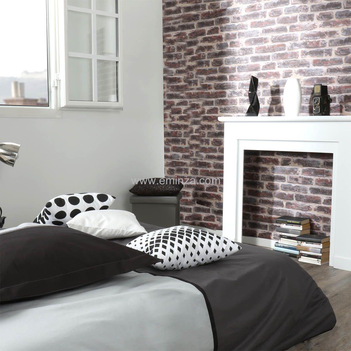 housse de couette et une taie 140 cm bicolore noir housse de couette eminza. Black Bedroom Furniture Sets. Home Design Ideas