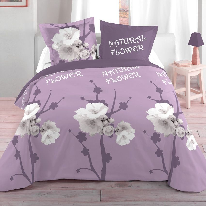 housse de couette et deux taies 260 cm orchis housse de couette eminza. Black Bedroom Furniture Sets. Home Design Ideas