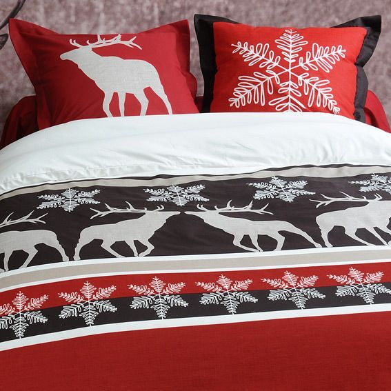 housse de couette et deux taies 240 cm cerf housse de couette eminza. Black Bedroom Furniture Sets. Home Design Ideas