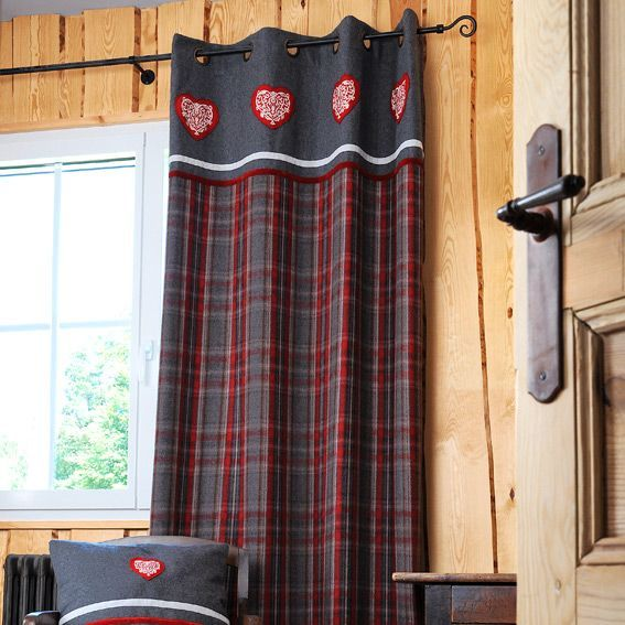 rideaux style montagne simple rideau illets style montagne courchevel rouge aspin with rideaux. Black Bedroom Furniture Sets. Home Design Ideas