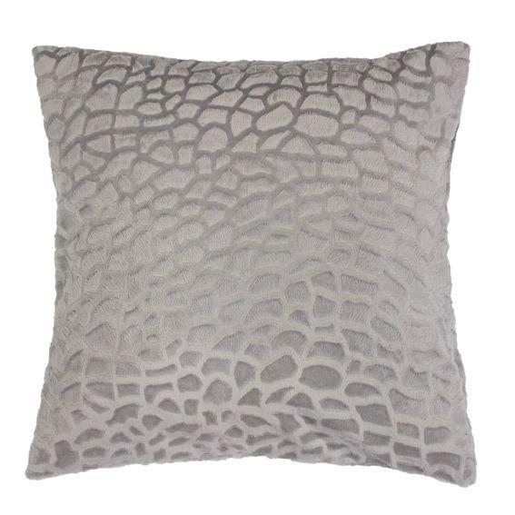 housse de coussin imitation fourrure tanzania gris housse de coussin eminza. Black Bedroom Furniture Sets. Home Design Ideas