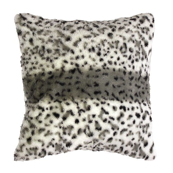 housse de coussin imitation fourrure hyene coussin eminza. Black Bedroom Furniture Sets. Home Design Ideas