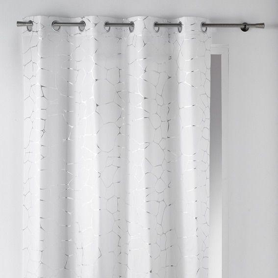 Rideau 140 x h260 cm sahel blanc rideau tamisant eminza for Rideau occultant et voilage