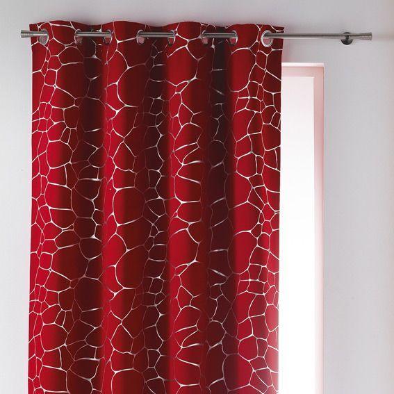 rideau occultant 140 x h260 cm sahel rouge rideau occultant eminza. Black Bedroom Furniture Sets. Home Design Ideas