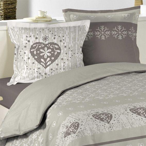 housse de couette et deux taies 240 cm courchevel taupe housse de couette. Black Bedroom Furniture Sets. Home Design Ideas