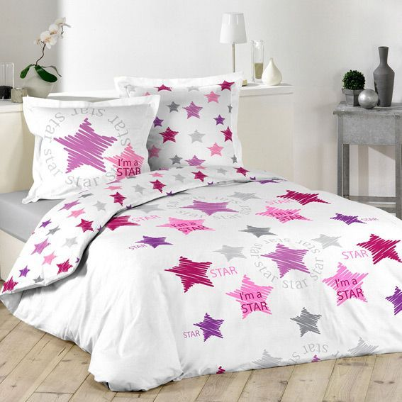 housse de couette et deux taies 240 cm i am a star housse de couette em. Black Bedroom Furniture Sets. Home Design Ideas