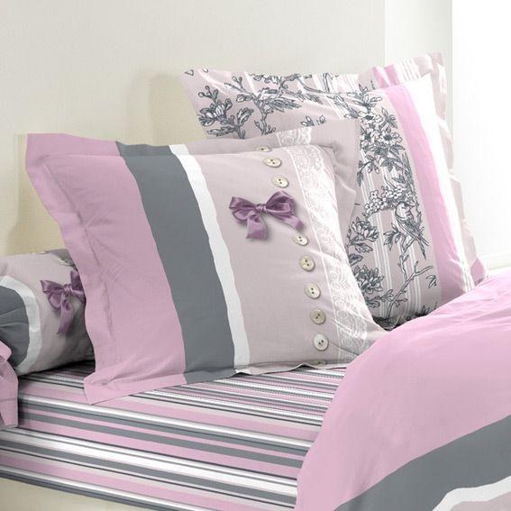 parure de draps 4 pi ces charmance parure de draps eminza. Black Bedroom Furniture Sets. Home Design Ideas