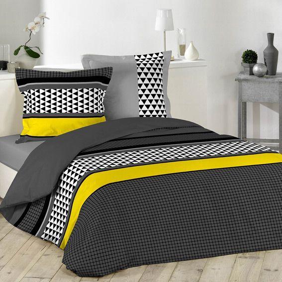 housse de couette et deux taies 240 cm issey housse de. Black Bedroom Furniture Sets. Home Design Ideas