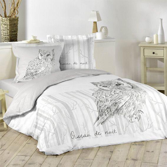 housse de couette et deux taies 240 cm oiseau de nuit. Black Bedroom Furniture Sets. Home Design Ideas