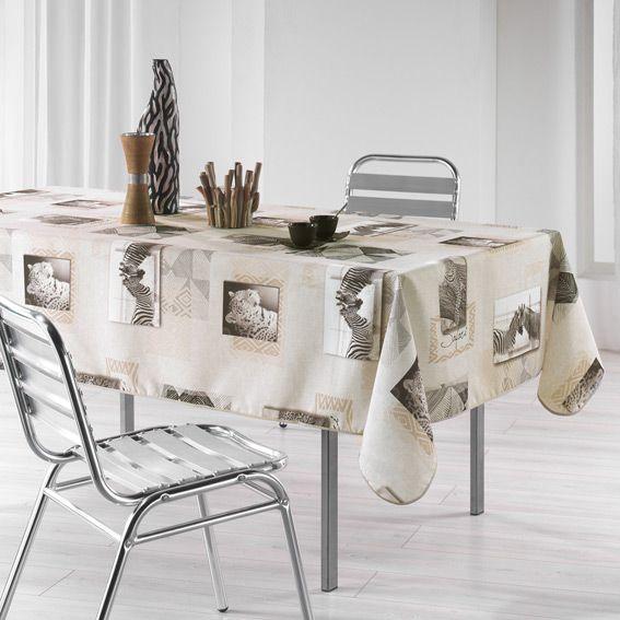 nappe rectangulaire (l240 cm) safari - nappe de table - eminza