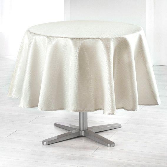 Nappe ronde d180 cm serpentile or nappe de table eminza for Nappe de table ronde