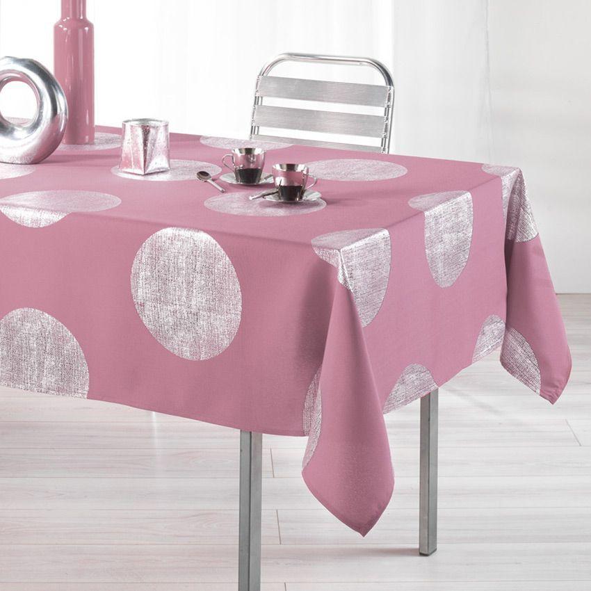 Nappe rectangulaire (L240 cm) Platine Rose - Nappe de table - Eminza