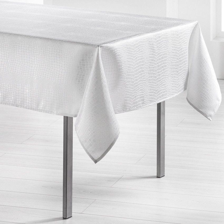 nappe rectangulaire l300 cm serpentile blanc nappe de table eminza. Black Bedroom Furniture Sets. Home Design Ideas