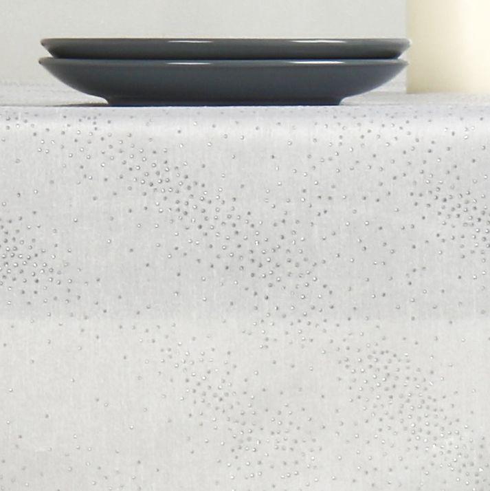 Nappe rectangulaire l300 cm shantung blanc linge de - Nappe table rectangulaire ...