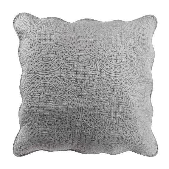 housse de coussin boutis 45 cm melissa gris coussin et. Black Bedroom Furniture Sets. Home Design Ideas
