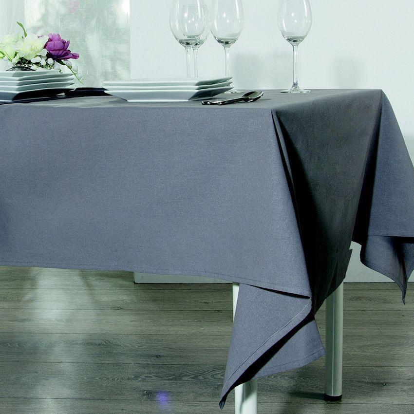 Nappe carrée Ixo Anti-tache Gris - Nappe de table - Eminza