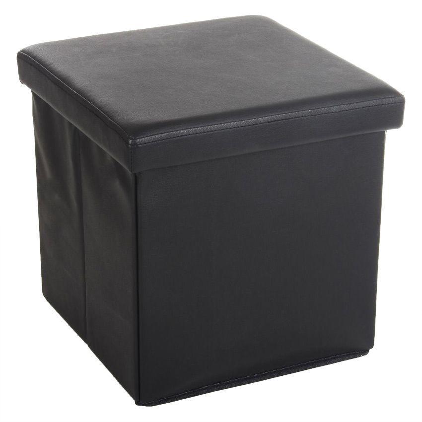 pouf de rangement slow noir coussin de sol et pouf eminza. Black Bedroom Furniture Sets. Home Design Ideas