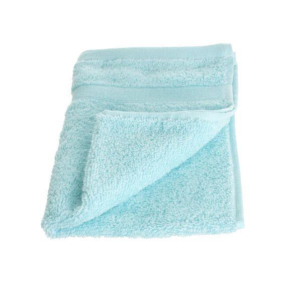 Serviette de bain 30 x 50 cm vita bleu ciel serviette for Salle de bain bleu ciel