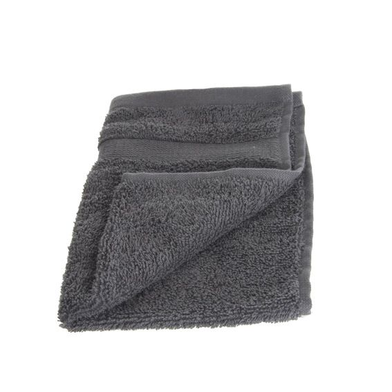 serviette de bain 30 x 50 cm vita anthracite serviette de bain eminza. Black Bedroom Furniture Sets. Home Design Ideas