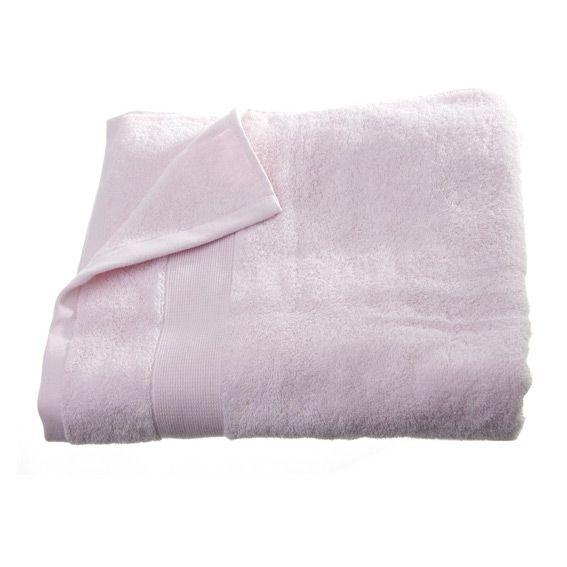 serviette de bain 100 x 150 cm vita rose clair serviette de bain eminza. Black Bedroom Furniture Sets. Home Design Ideas