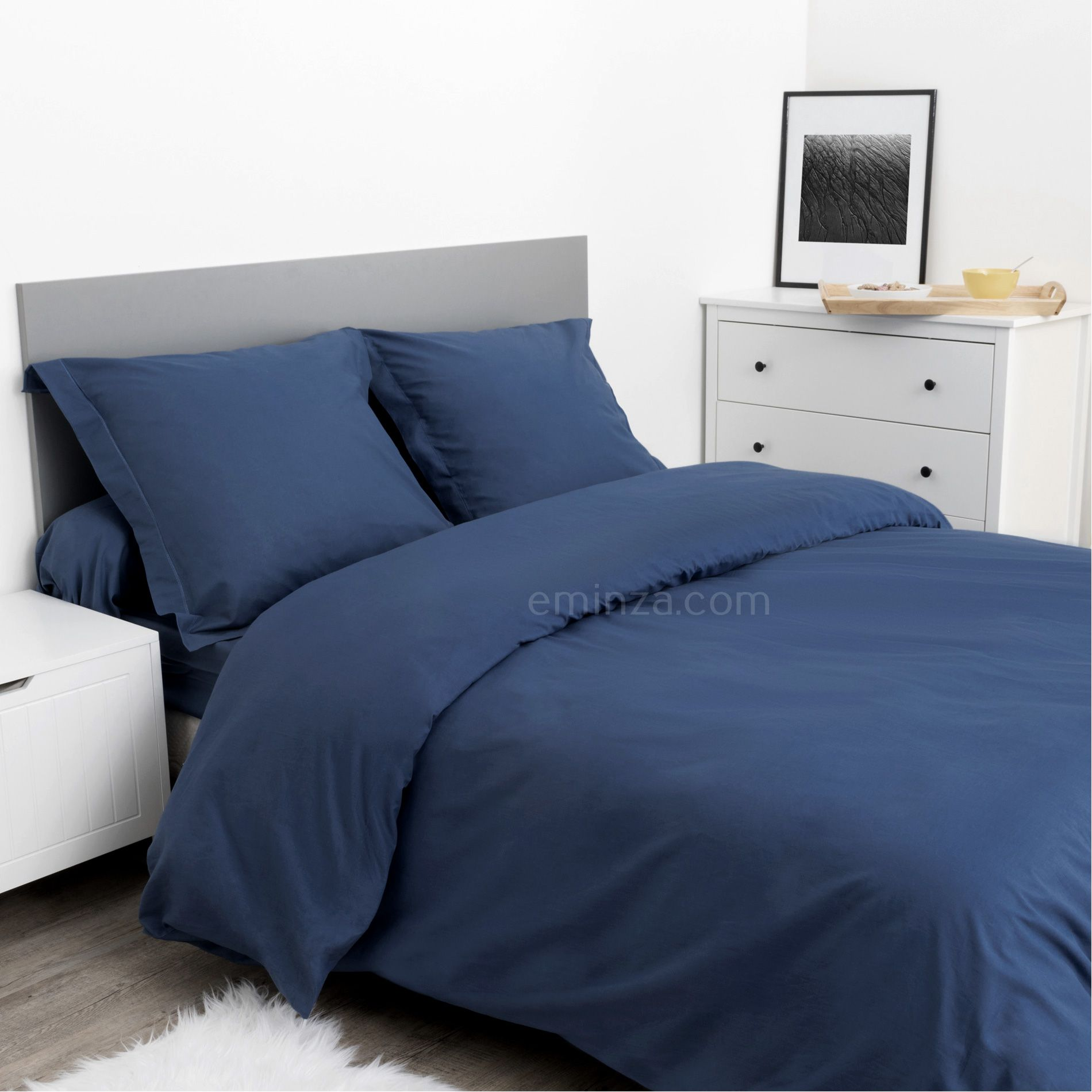 taie de traversin confort bleu taie d 39 oreiller traversin eminza. Black Bedroom Furniture Sets. Home Design Ideas