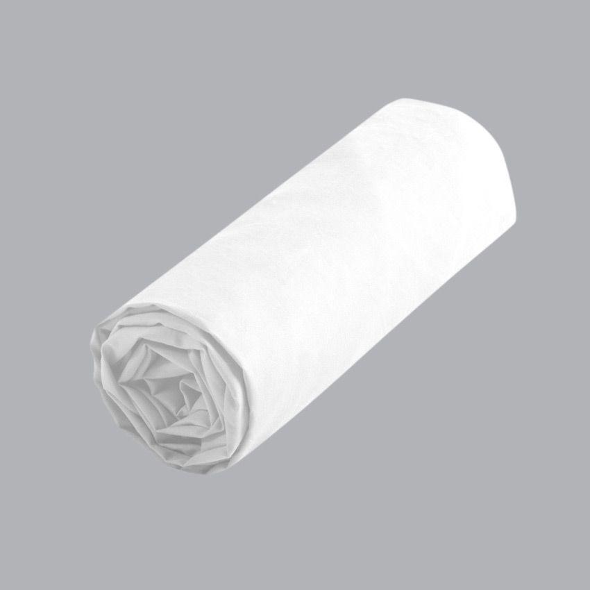 Drap housse 140 cm confort blanc drap housse eminza for Drap housse 140