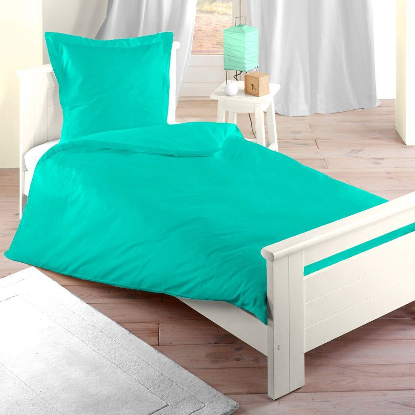 housse de couette 140 cm confort turquoise housse de couette eminza. Black Bedroom Furniture Sets. Home Design Ideas