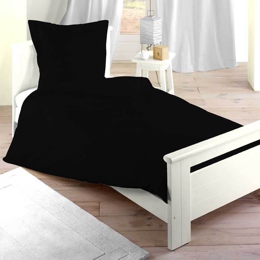 housse de couette 140 cm confort noir housse de couette eminza. Black Bedroom Furniture Sets. Home Design Ideas