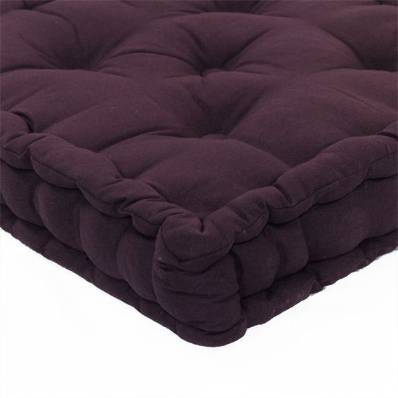 coussin de sol 50 cm etna aubergine coussin de sol et pouf eminza. Black Bedroom Furniture Sets. Home Design Ideas