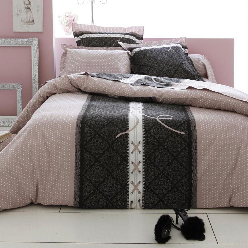 parure de draps 4 pi ces glamour parure de draps eminza. Black Bedroom Furniture Sets. Home Design Ideas