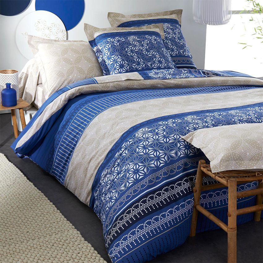 parure de draps 4 pi ces fujita parure de draps eminza. Black Bedroom Furniture Sets. Home Design Ideas