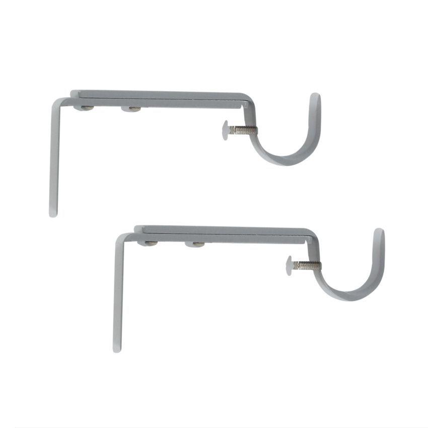 lot de 2 supports simple extensible goutti re 150 mm gris patin tube et support eminza. Black Bedroom Furniture Sets. Home Design Ideas