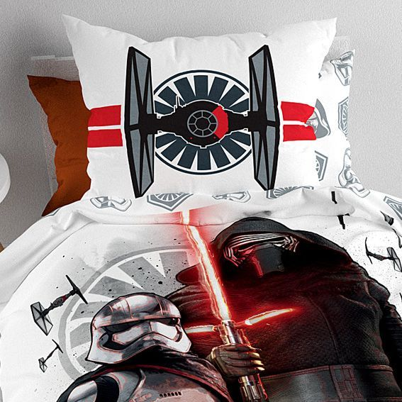 housse de couette et une taie 140 cm star wars the force. Black Bedroom Furniture Sets. Home Design Ideas