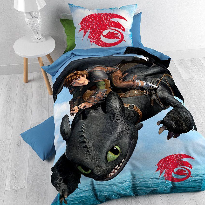 housse de couette et une taie 140 cm dragon de la mer. Black Bedroom Furniture Sets. Home Design Ideas