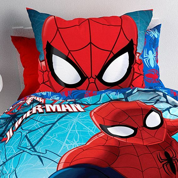 housse de couette et une taie 140 cm spiderman housse. Black Bedroom Furniture Sets. Home Design Ideas