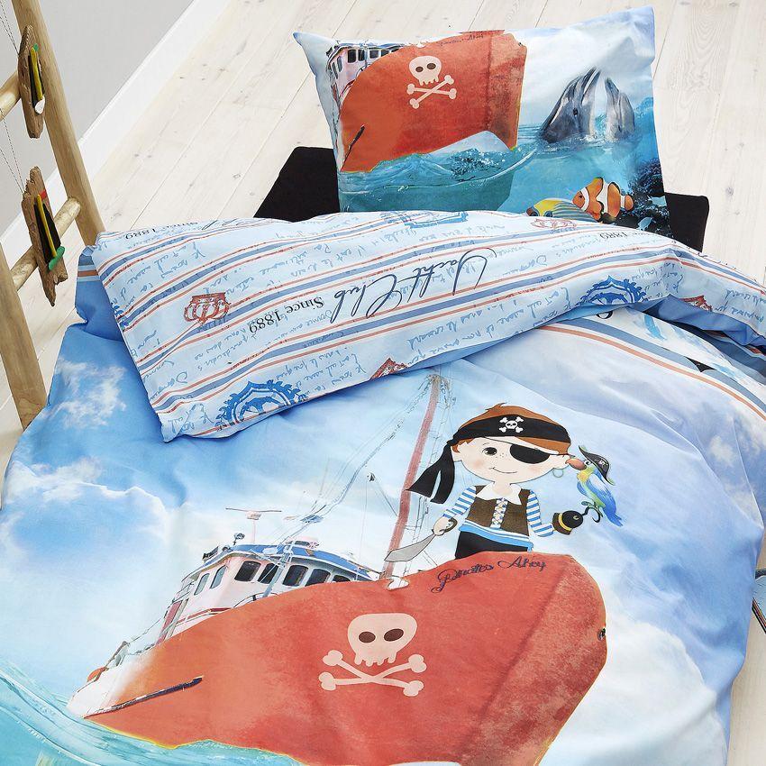 Housse de couette et une taie 140 cm petit pirate - Housse de couette petit lit ...