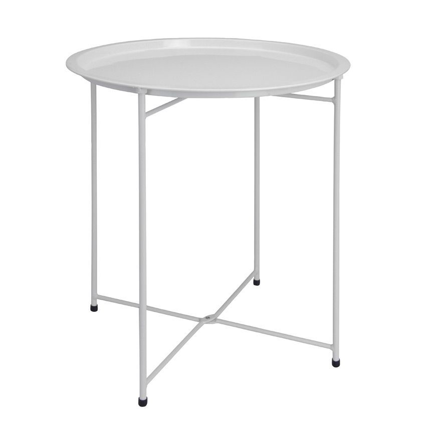 Table d 39 appoint pliante aguza blanc meuble d 39 appoint for Table blanche pliable